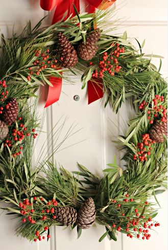 Wreath Olive Branch and Pine