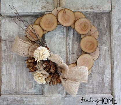 Wreath Wood Slice