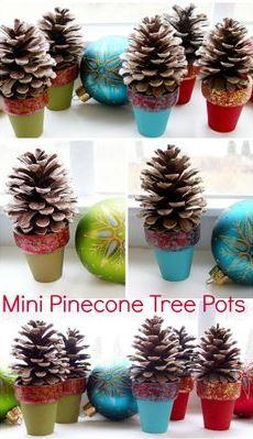 pinecone tree pots