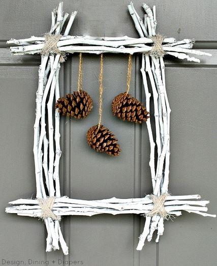 pinecone twig wreath