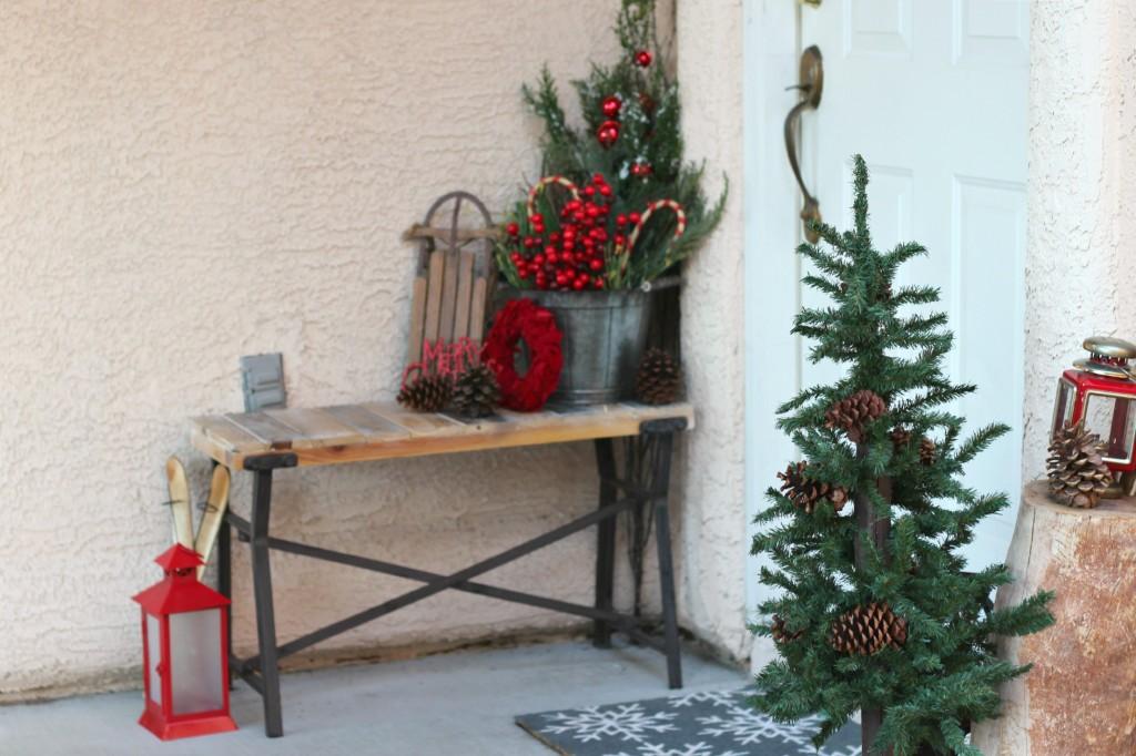 2015 Christmas Porch bench