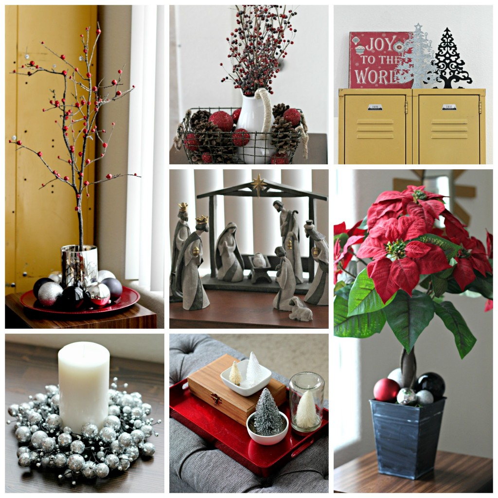 Christmas Home Tour Family room collage