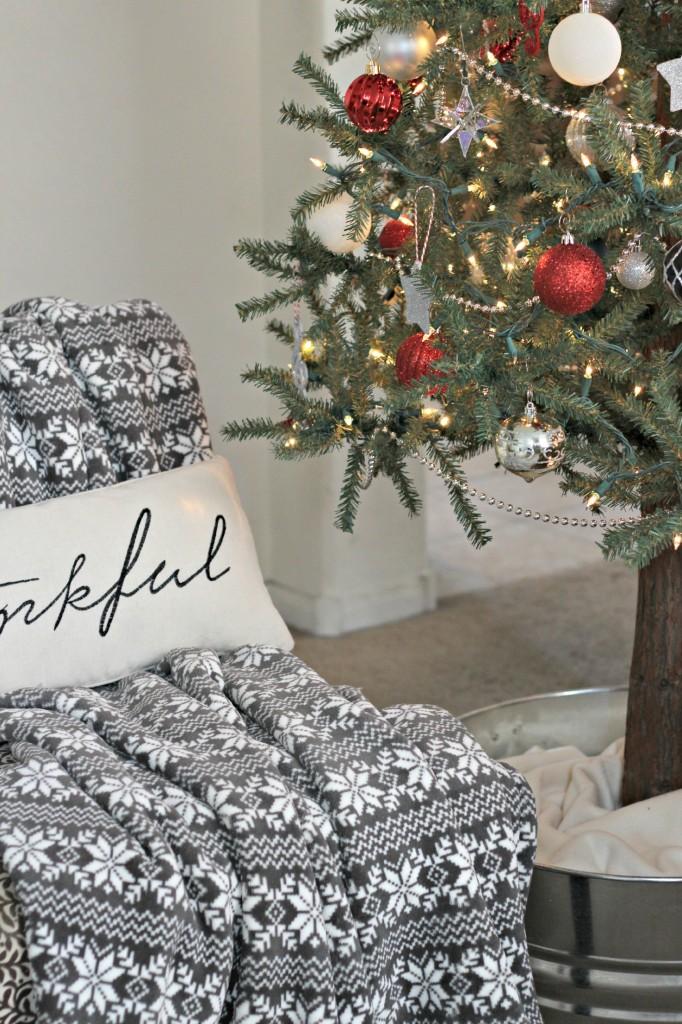 Christmas Home Tour blanket
