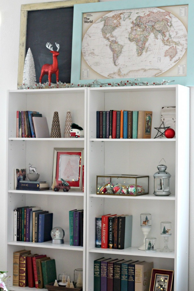 Christmas Home Tour bookcase