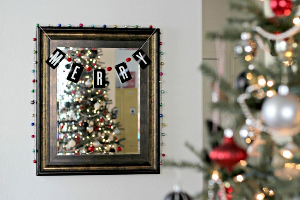Christmas Home Tour mirror