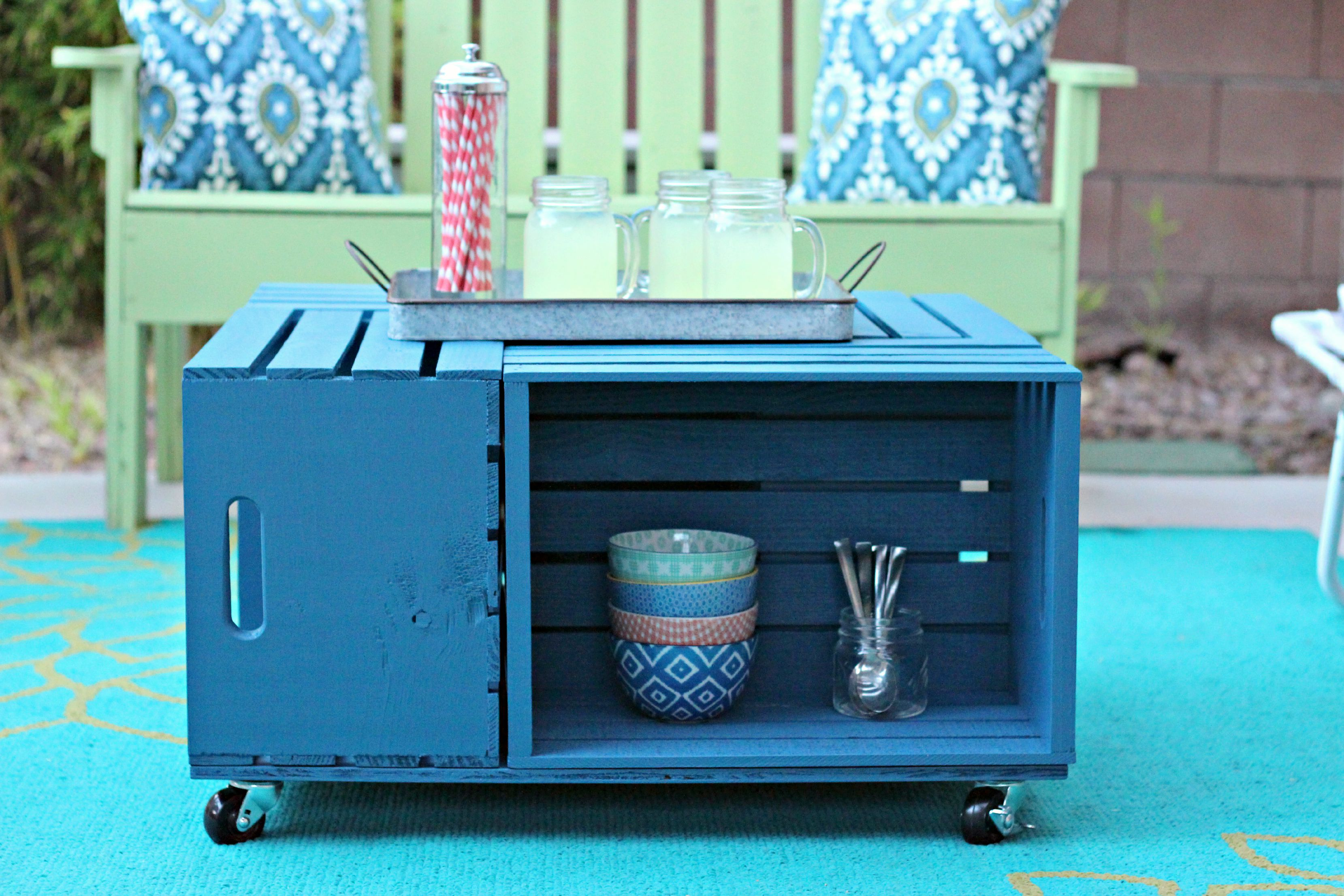 Crate Table entertaining