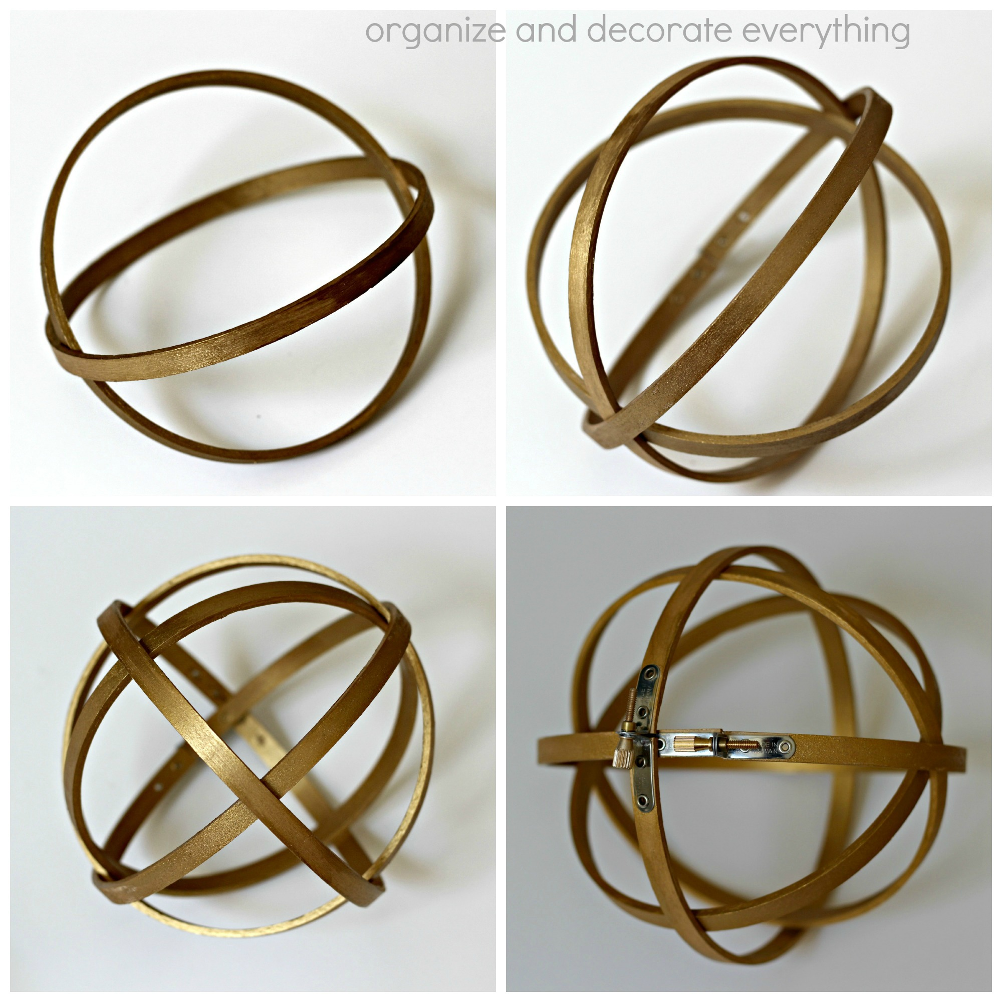 Decorative Wood Sphere collage