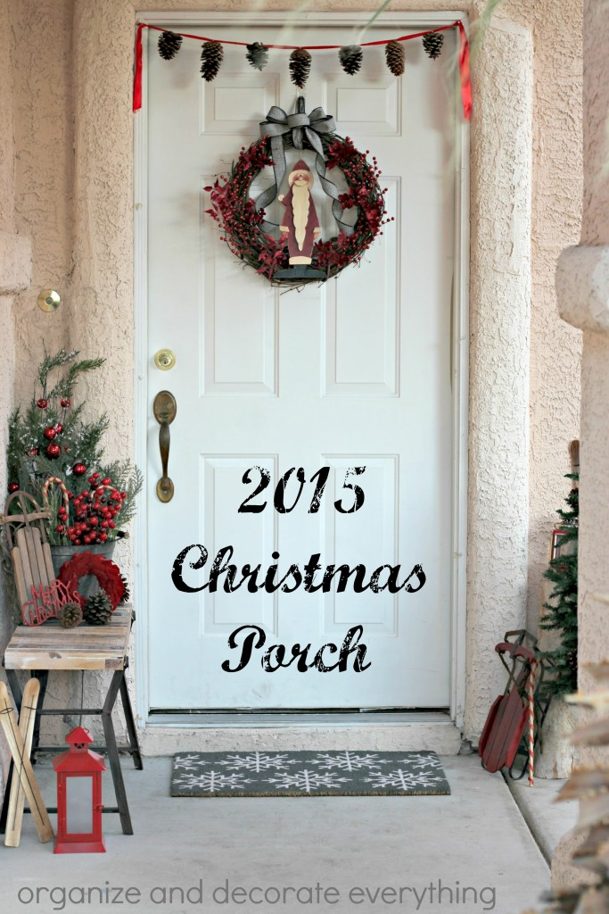 Easy ways to decorate your porch for Christmas using things you probably already have