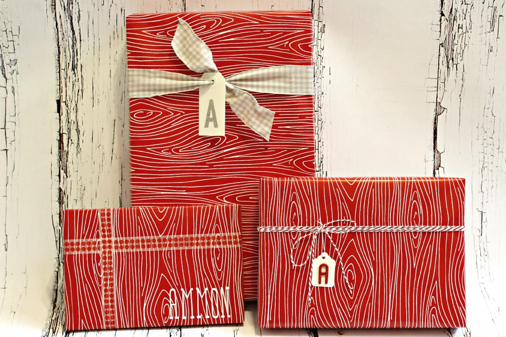 Gift Wrapping monograms on tags
