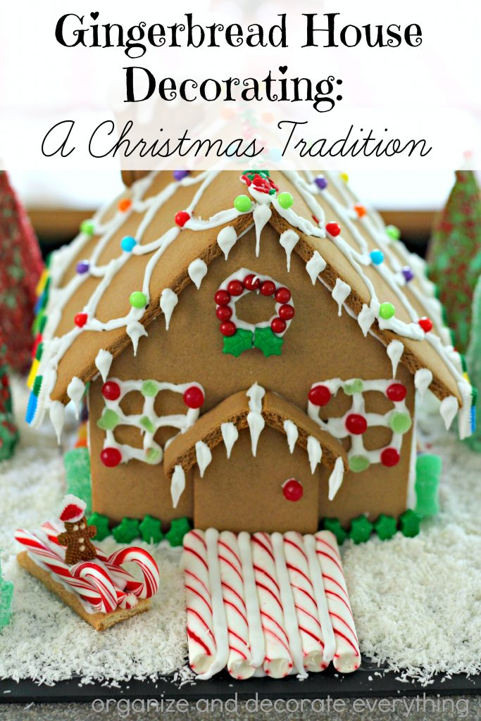 Gingerbread House decorating is a favorite family tradition
