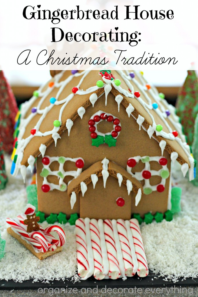 Gingerbread House Decorating is one of our favorite Christmas Traditions