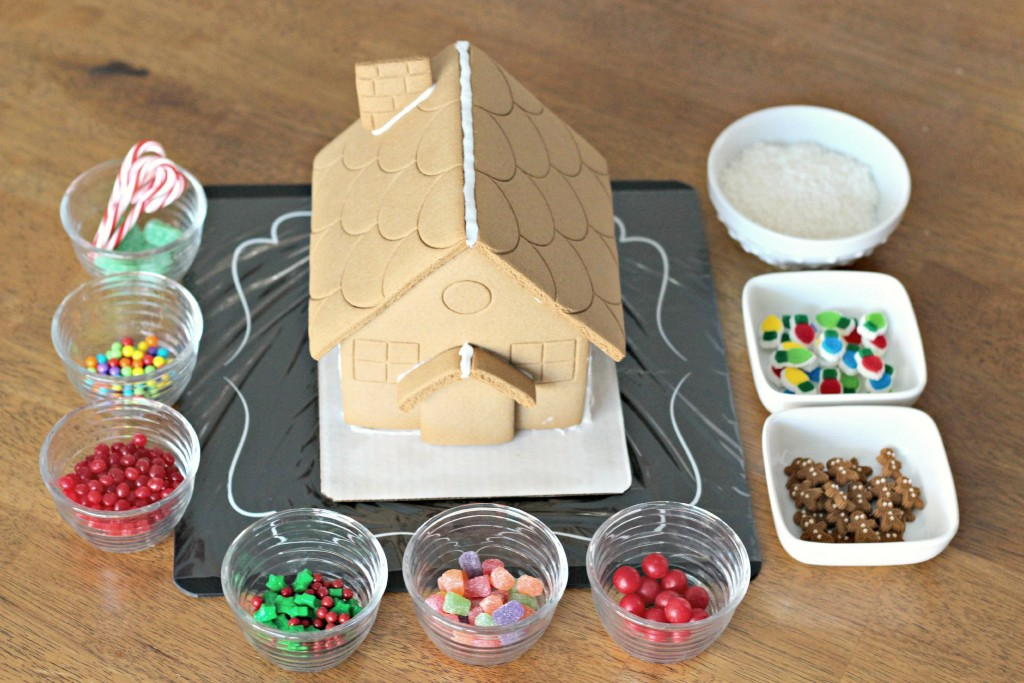 Gingerbread House decorating supplies