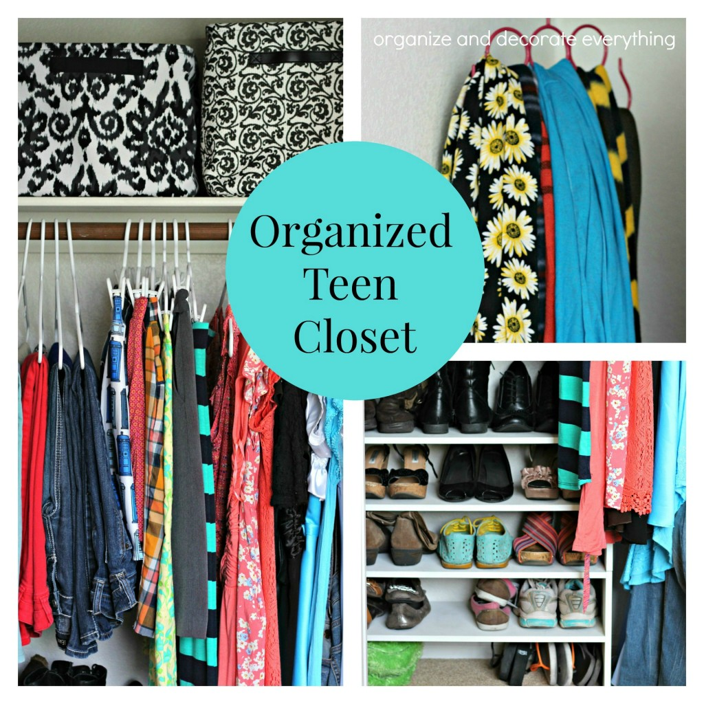 Organized Teen Closet- using what you have