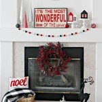 Red and Black Christmas Wonder Mantel