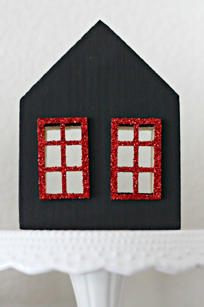 Red and Black Mantel black house