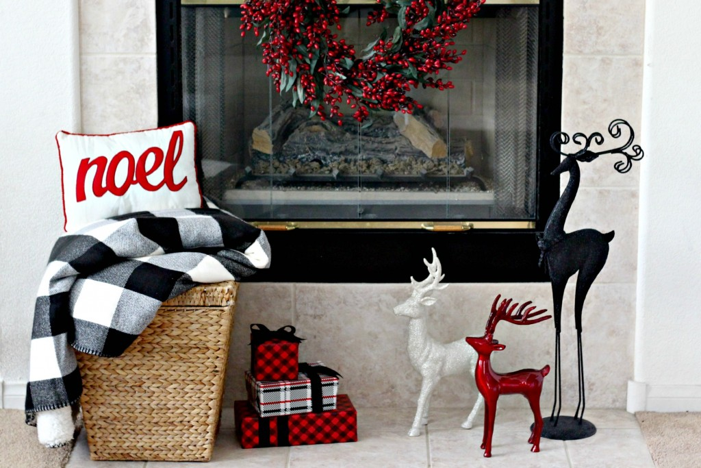 Red and Black mantel bottom half