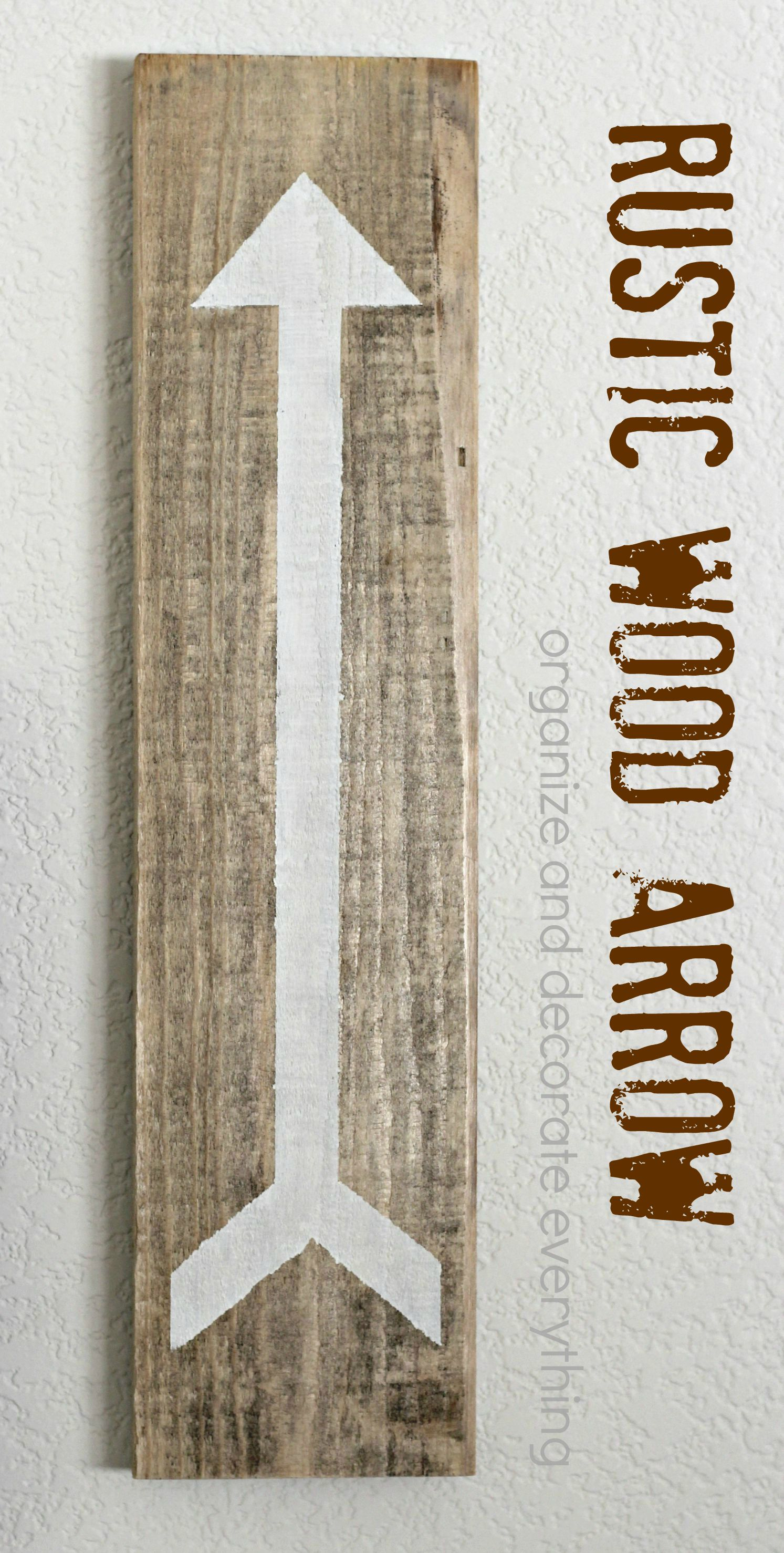 Rustic Wood Arrow