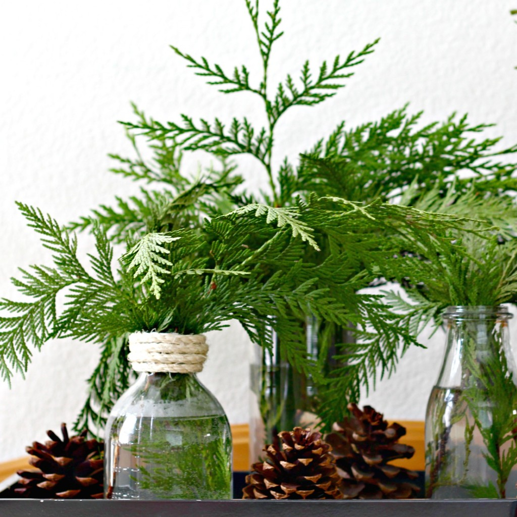 Simple Pine Bough Arrangement