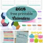 16 Free Printable Calendars for 2016