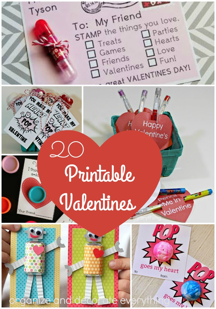 20 Printable Valentines for the Classroom