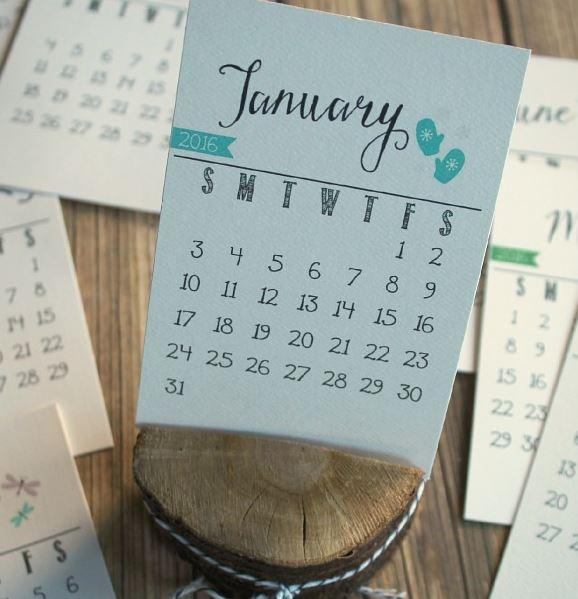 2016 Calendars Clean & Sensible