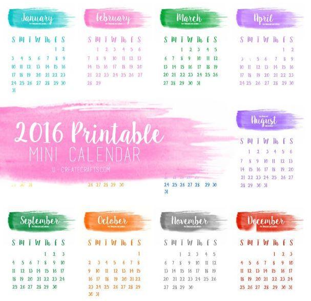 2016 Calendars U Create