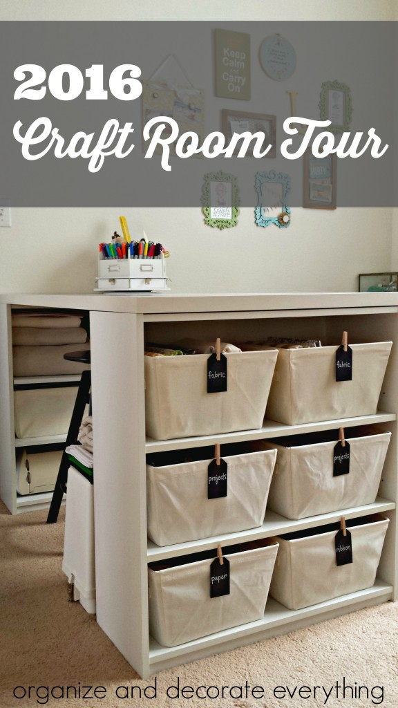 2016 Craft Room Tour. There are so many great ideas here to store all your craft supplies, especially if you're renting
