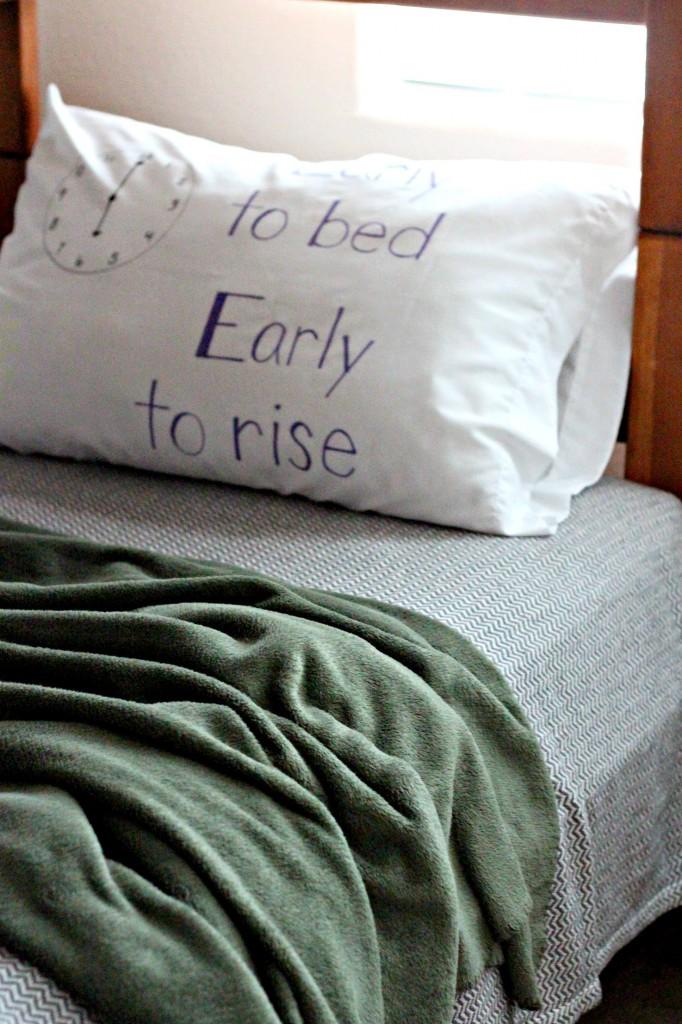 Checklist Pillowcase for Zach
