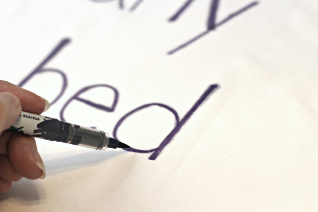Checklist Pillowcase writing