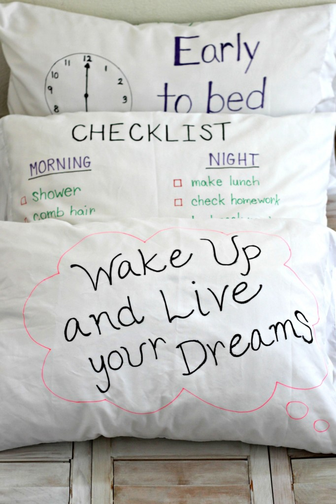 Checklist Pillowcases front and back