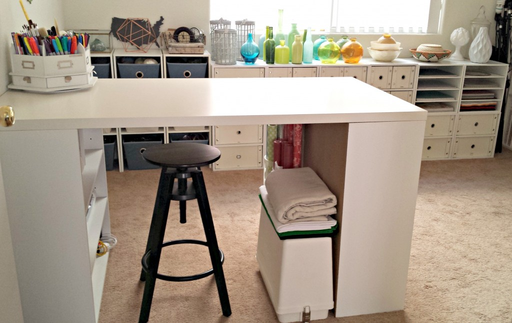 Craft Room Tour Desk and Cabinets