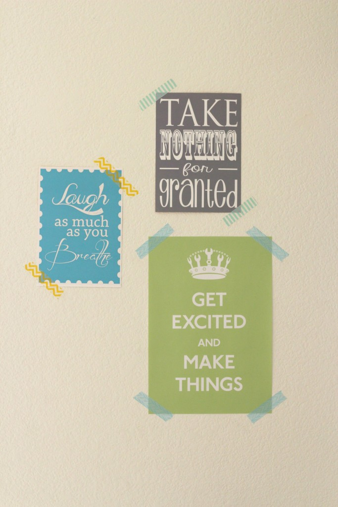 Craft Room Tour Quote Wall