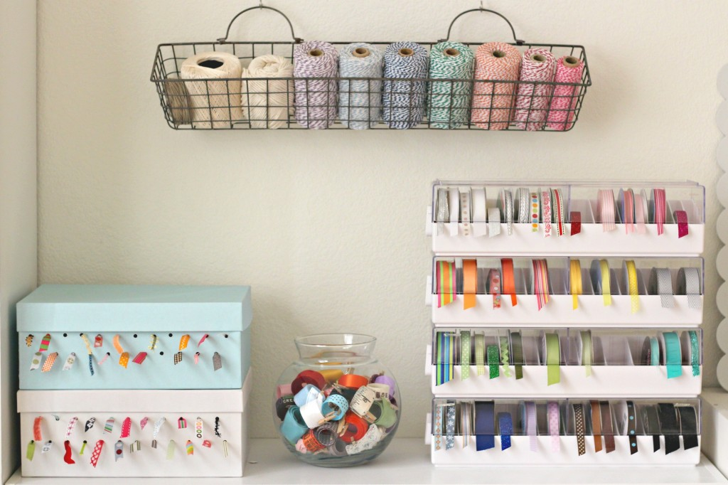 Craft Room Tour Ribbon Storage