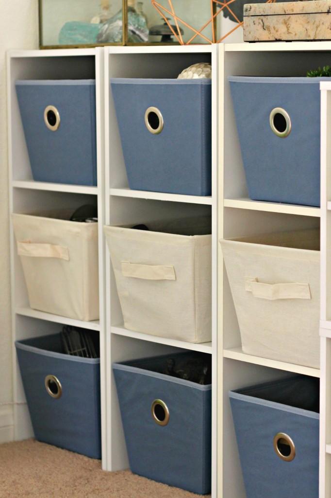 Craft Room Tour Storage Baskets