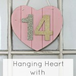 Hanging Wood Heart