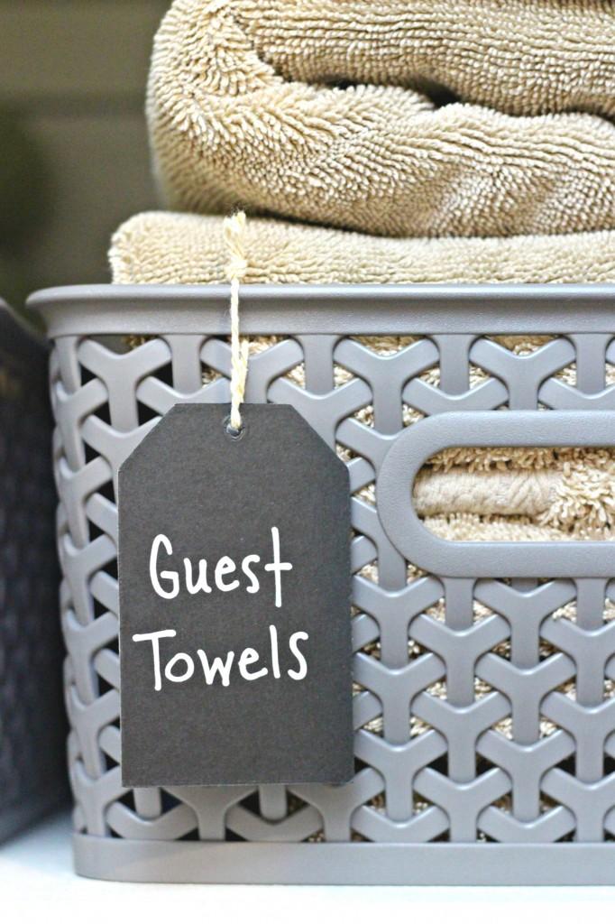 Linen Closet basket tags