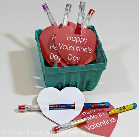 Pencil Valentine