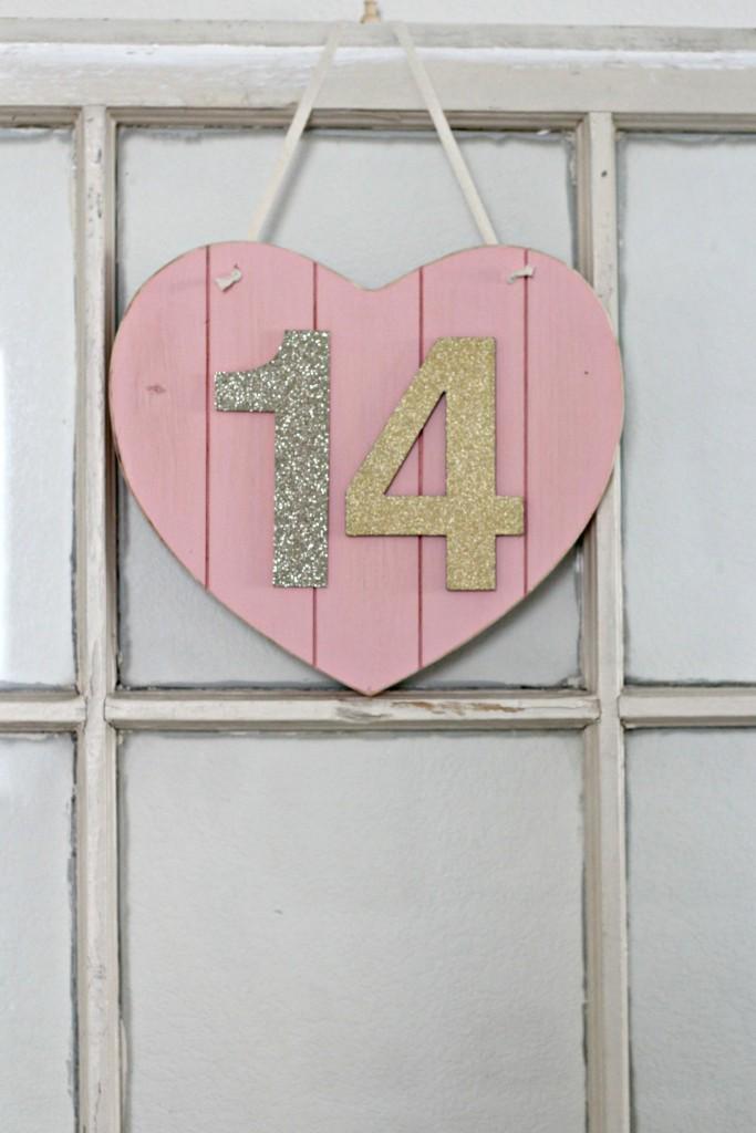 Wood Heart Hanging