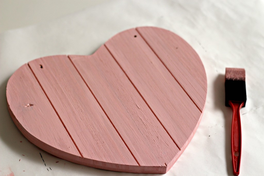 Wood Heart painted
