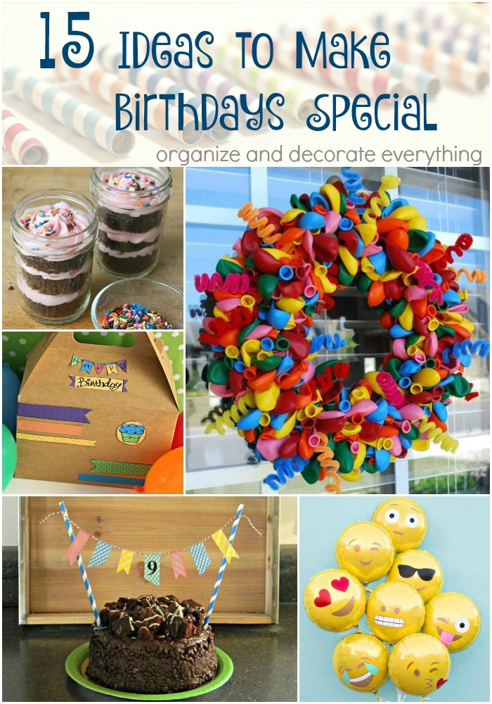 15 Craft Ideas to make Birthdays Special