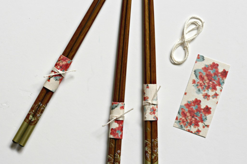 Chop Stick Wrap paper and twine