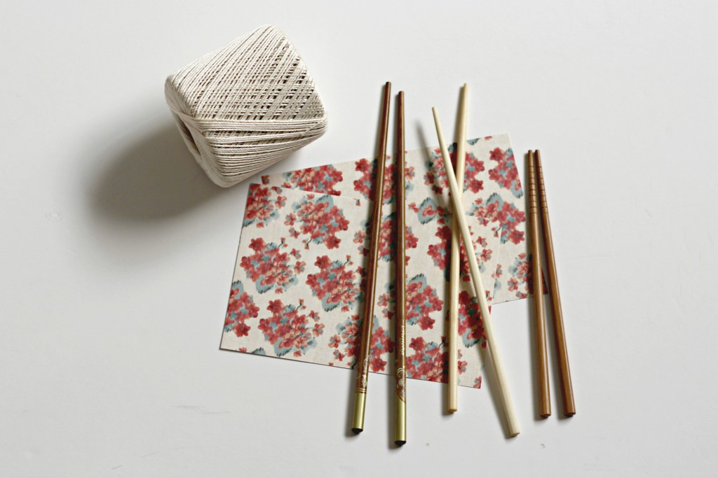 Chop Stick Wrap supplies