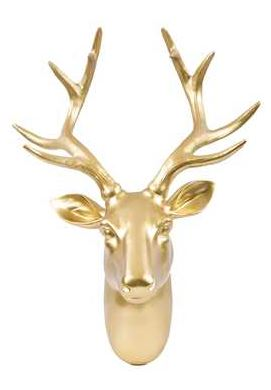 Decorating with Gold Deer Head