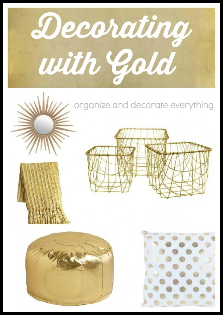 Decorating with Gold Home Accessories