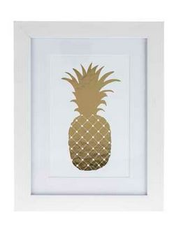 Decorating with Gold Pineapple print