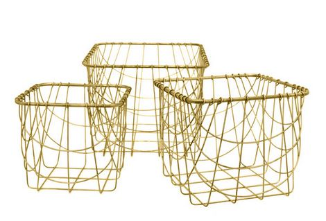 Decorating with Gold baskets