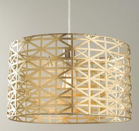 Decorating with Gold drum pendant