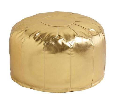 Decorating with Gold floor pouf