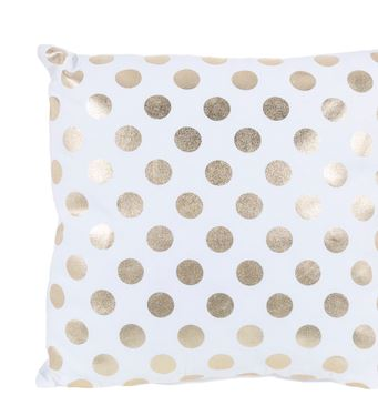 Decorating with Gold polka dot pillow