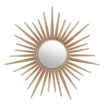 Decorating with Gold sunburst mirror